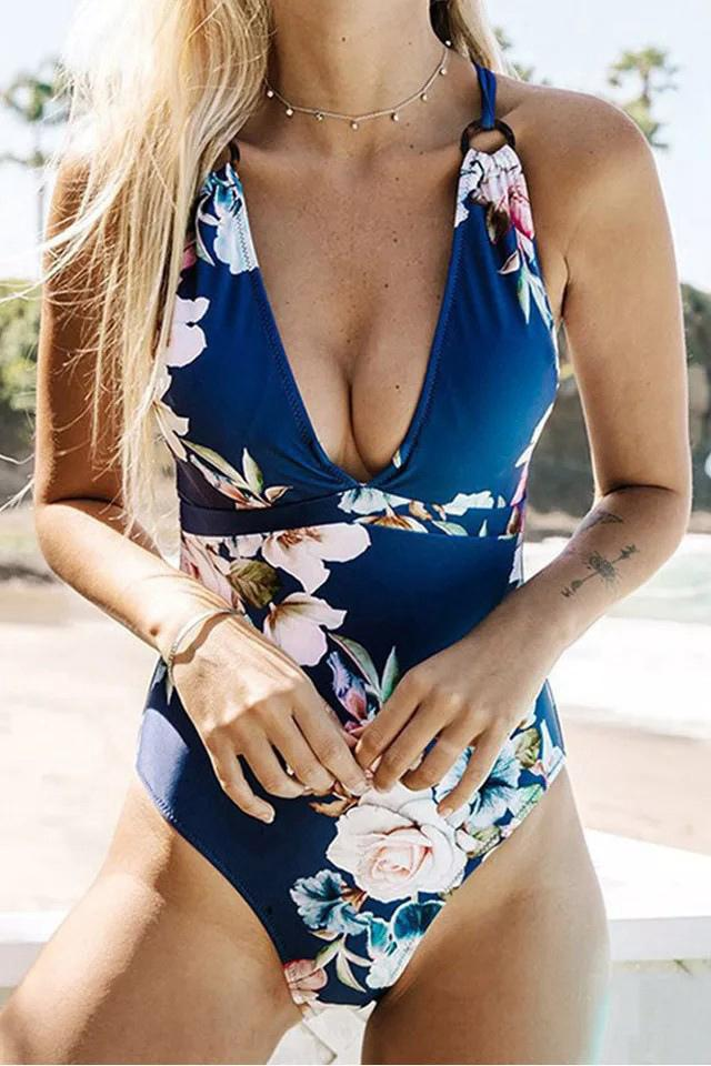 Printed Sexy Little Fresh One-Piece Swimsuit