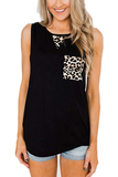 Leopard Printed Round Neck Tank Top