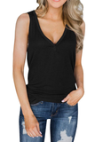 Stylish Button Design Tank Top