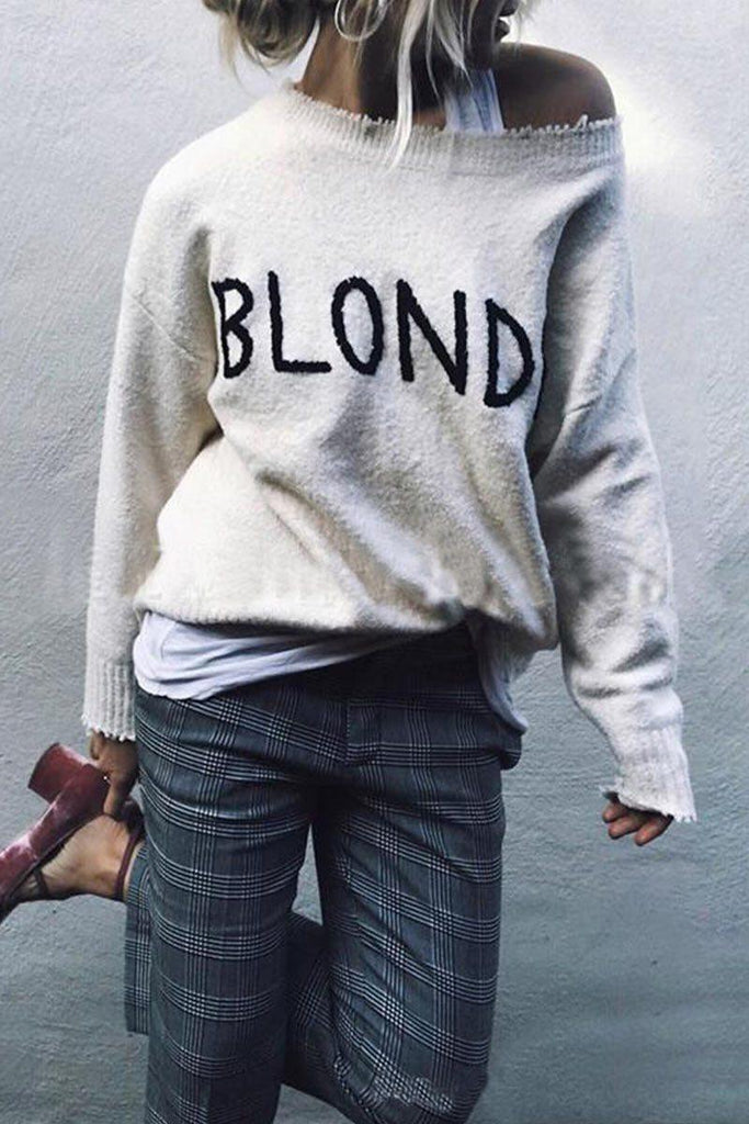 Letter White Sweater