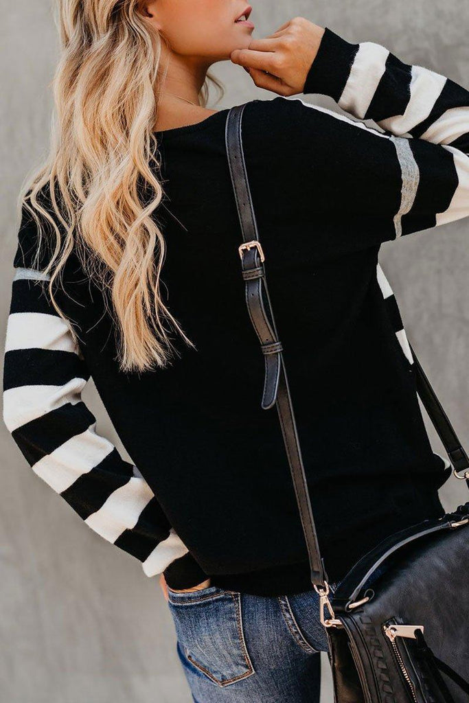 Striped Black T-shirt