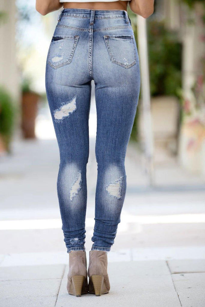 Star of the Show Distressed Jeans