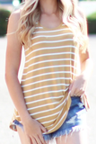 Striped Printed Tank Top