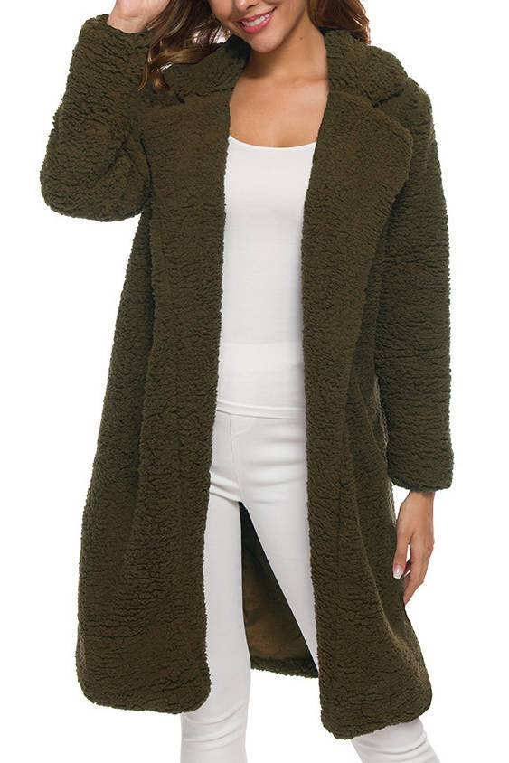 Solid Long Sleeve Cardigan