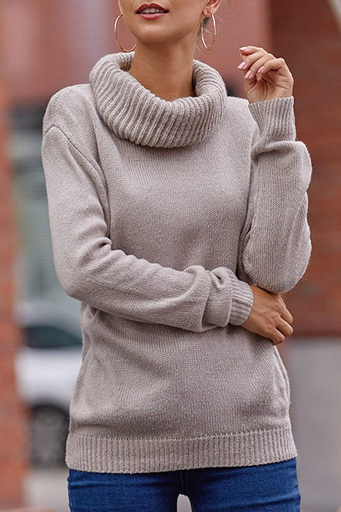 Turtleneck Long Sleeve Gray Sweater(8 colors)