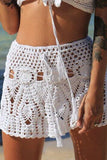 Hollow solid beach skirt