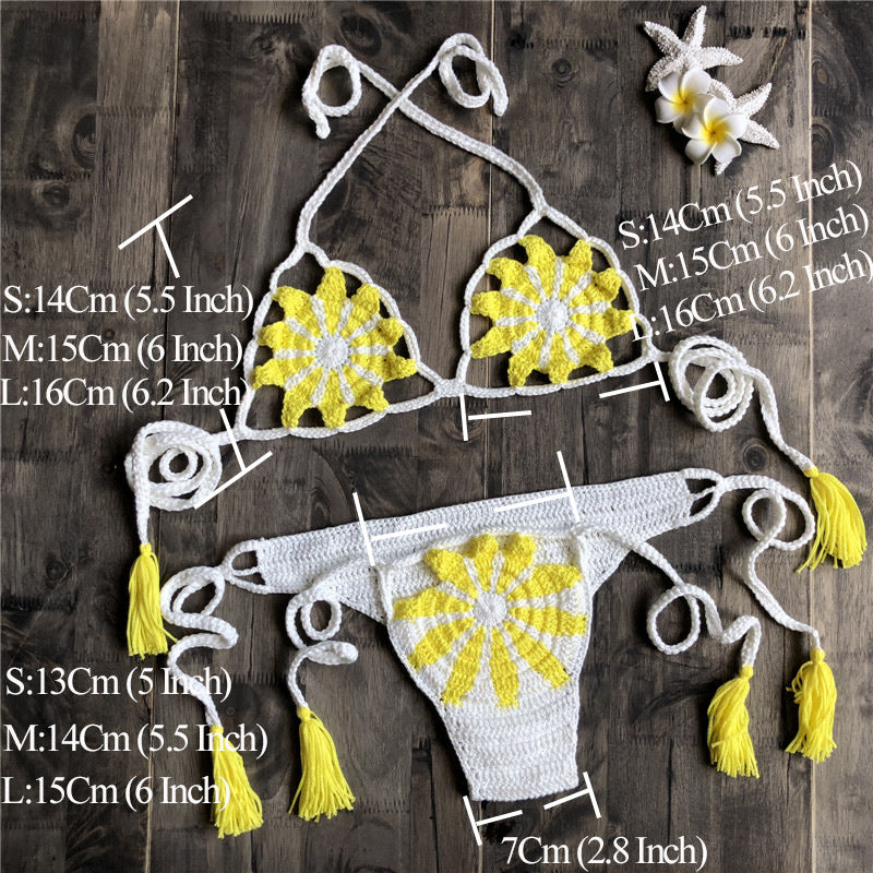 Fashion sexy hand hook knitting bikini