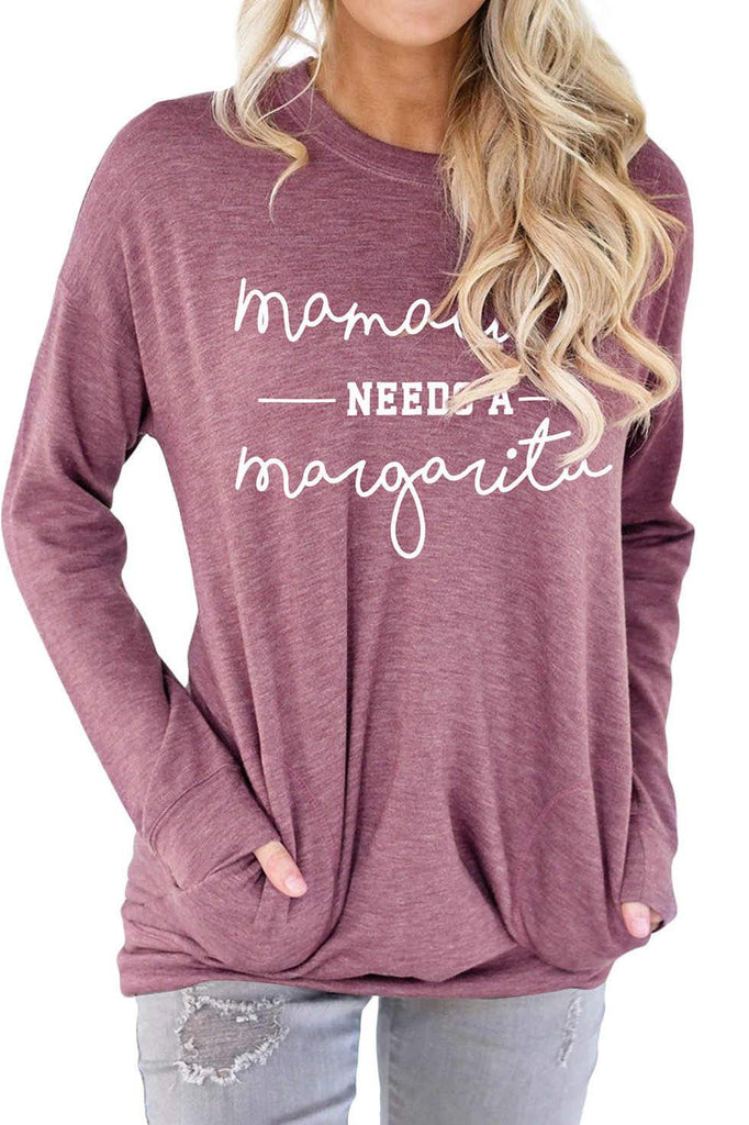 Solid Color Long Sleeve T-shirt