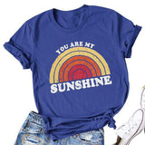 Sunshine Letter Short Sleeves T-Shirt