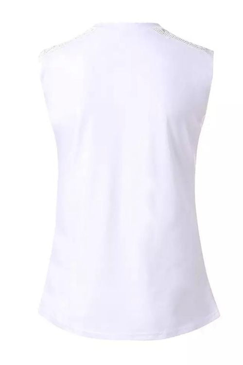 Simple V Neck Solid Tank Top