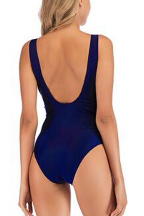 Open back lace one piece swimsuit
