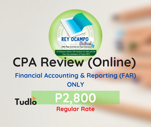 REY OCAMPO ONLINE: Online CPA Review - FAR ONLY [Regular Rate]