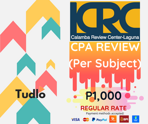 CALAMBA REVIEW CENTER - LAGUNA: Online CPA Review Access to eLearning Platform - Individual Subject [Regular Rate]