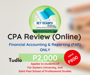 REY OCAMPO ONLINE: Online CPA Review - FAR ONLY [FEU & SPSPS Special Rate]