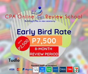 CPA ONLINE REVIEW SCHOOL: Early Bird Rate