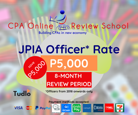 CPA ONLINE REVIEW SCHOOL: JPIA Officer Rate (2018 Onwards)