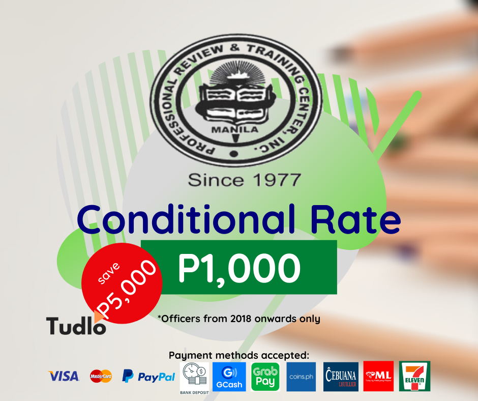 PRTC MANILA: CPA Review per Subject [Conditional]
