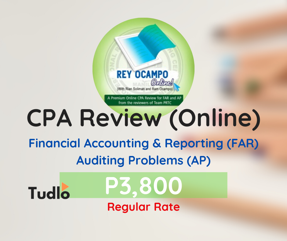 REY OCAMPO ONLINE: Online CPA Review - FAR & AP [Regular Rate]