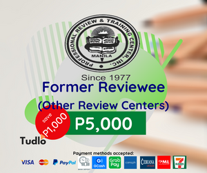 PRTC MANILA: CPA Review [Former Reviewee (Other Review Center) Rate]