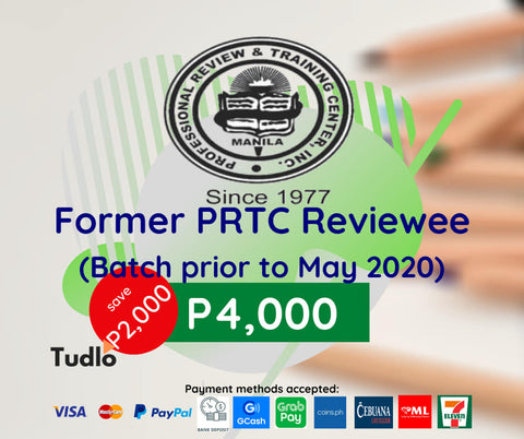 PRTC MANILA: CPA Review [Batch Prior to May 2020]
