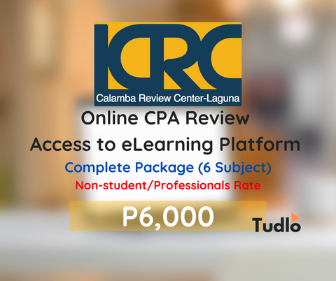 CALAMBA REVIEW CENTER - LAGUNA: Online CPA Review Access to eLearning Platform - Regular Rate