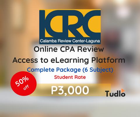 CALAMBA REVIEW CENTER - LAGUNA: Online CPA Review Access to eLearning Platform - Student Rate