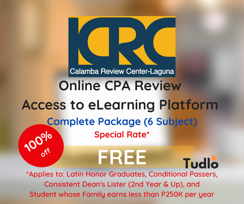 CALAMBA REVIEW CENTER - LAGUNA: Online CPA Review Access to eLearning Platform - Special Rate