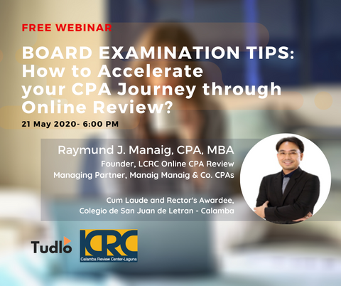 PRE-RECORDED WEBINAR: How to Accelerate Your CPA Journey through Online Review?
