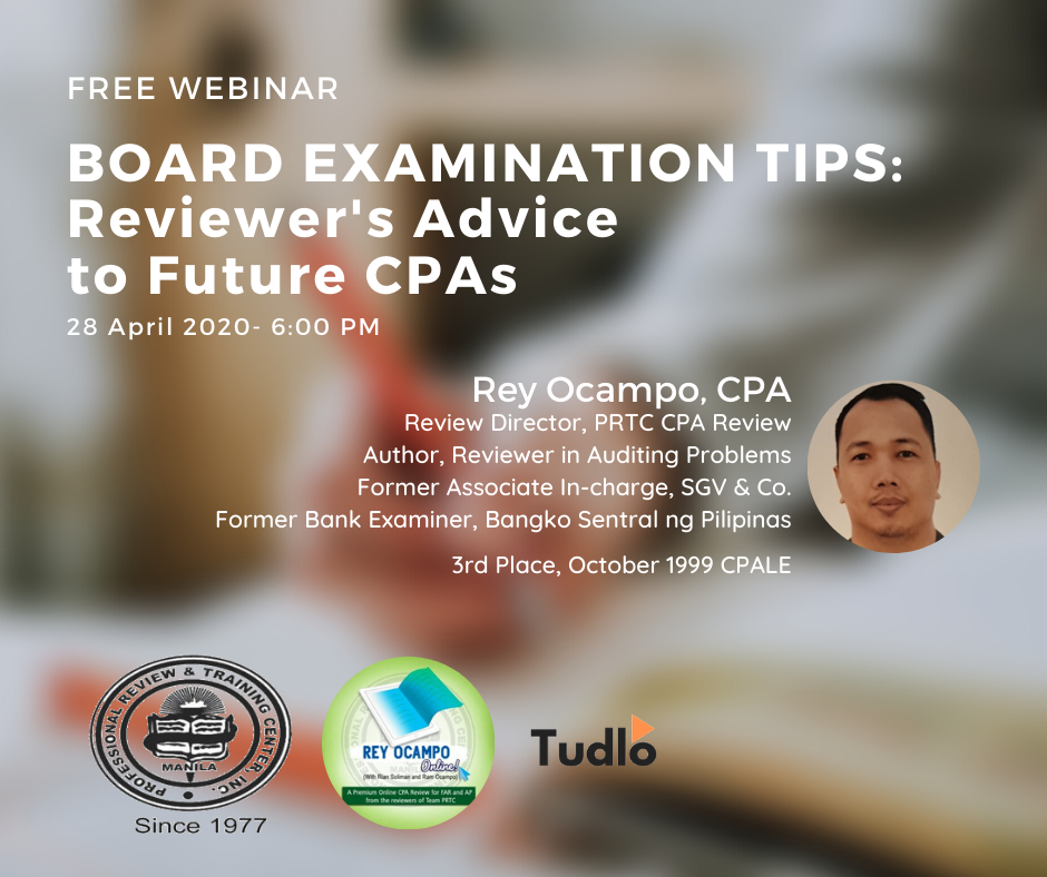 PRE-RECORDED WEBINAR: Reviewer's Advice to Future CPAs