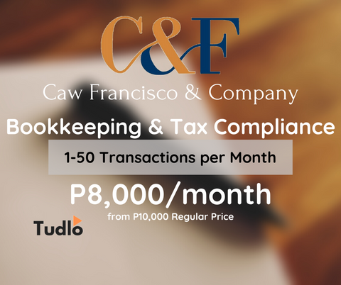 CAW FRANCIS & COMPANY: Bookkeeping & Tax Compliance - 1 to 50 Transactions/Month