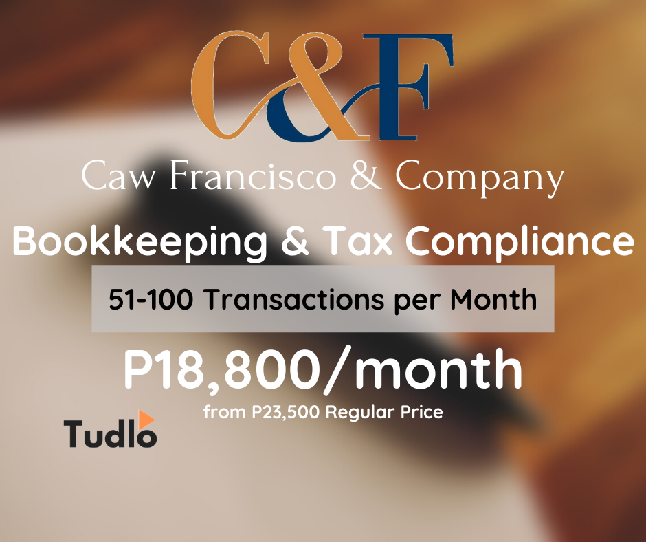 CAW FRANCIS & COMPANY: Bookkeeping & Tax Compliance - 51 to 100 Transactions/Month