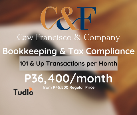 CAW FRANCIS & COMPANY: Bookkeeping & Tax Compliance - 101 & Up Transactions/Month