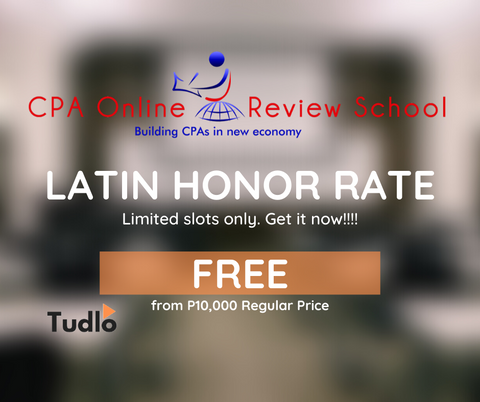 CPA ONLINE REVIEW SCHOOL: Latin Honor Rate
