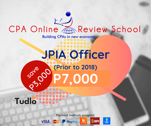 CPA ONLINE REVIEW SCHOOL: JPIA Officer Rate (Prior to 2018)