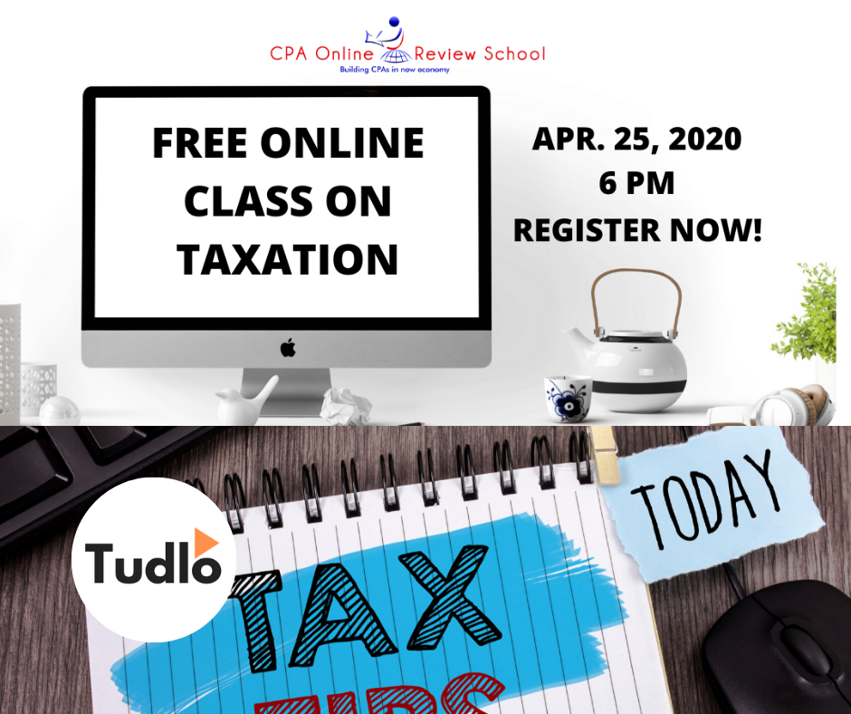 CPA ONLINE REVIEW SCHOOL: Online Class on Taxation