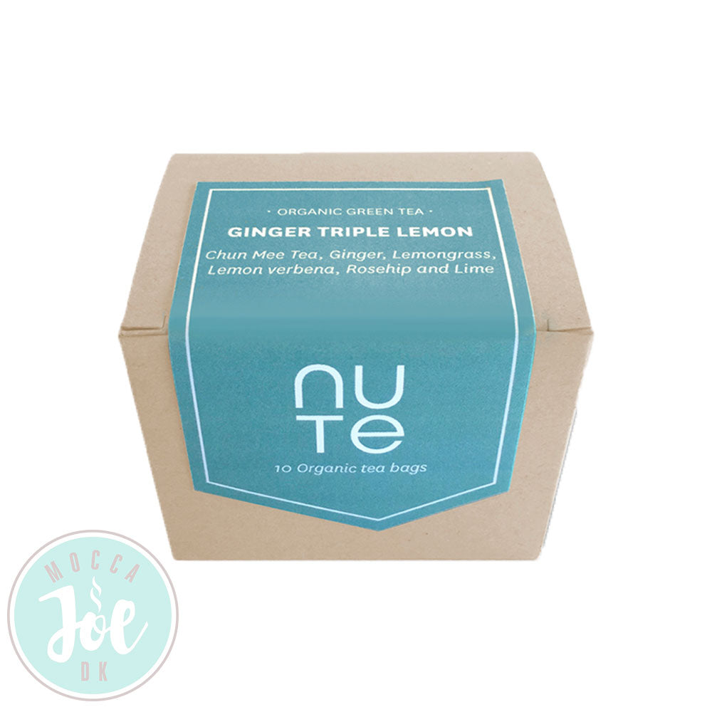 Nute Te Ginger Triple Lemon | 10 stk Tebreve