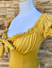 Load image into Gallery viewer, Miss Bonita Bodysuit (Mustard)