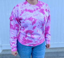 Load image into Gallery viewer, Pink Tie Dye Crewneck Sweater