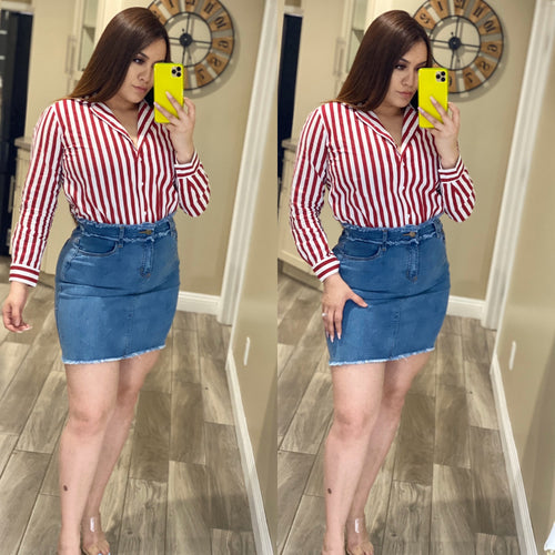 Belle Denim Skirt
