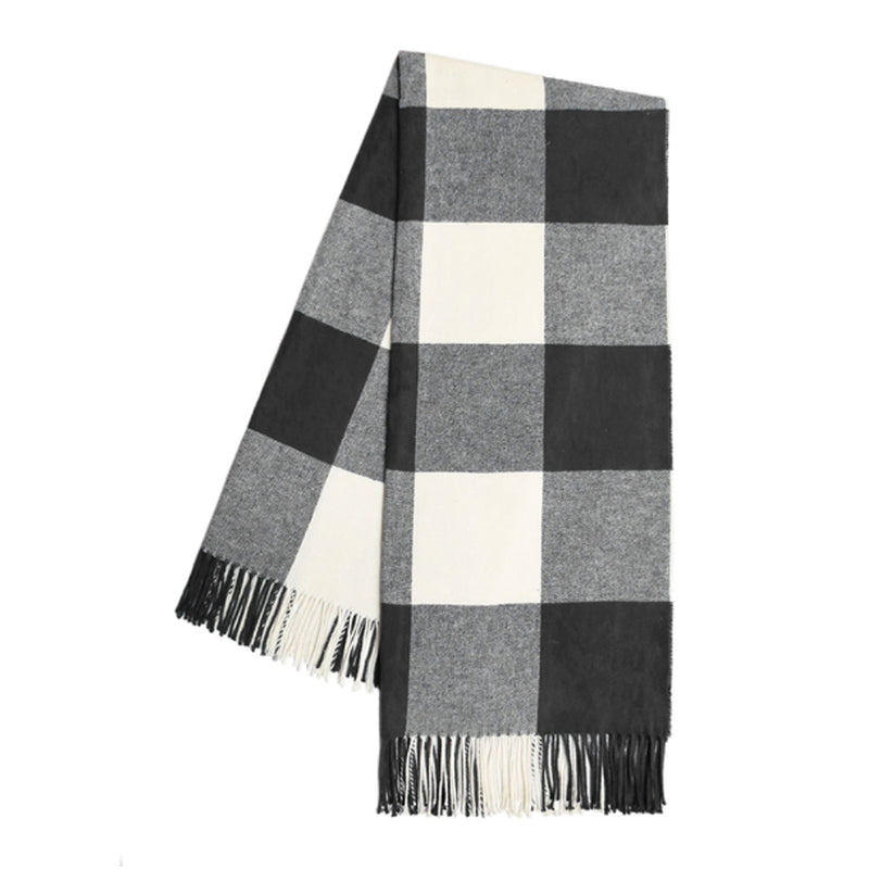 Graphite Buffalo Check Throw