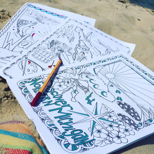 Lake Affect Northern Michigan Coloring Book