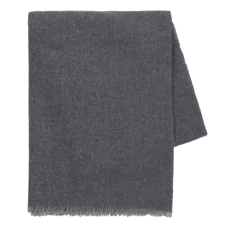 Charcoal Italian Luna Cashmere Throw