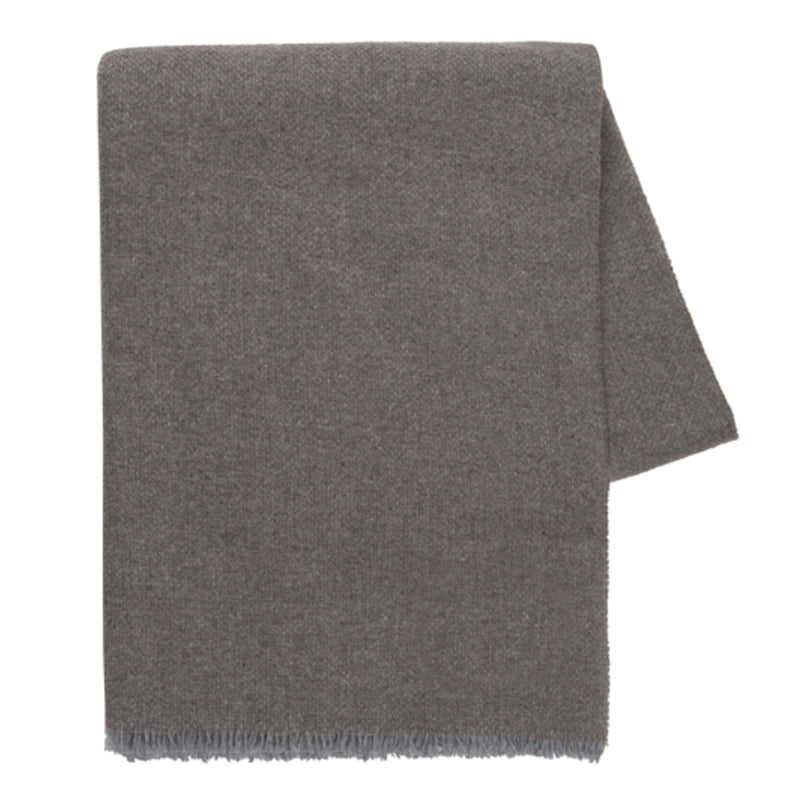 Taupe Italian Luna Cashmere Throw