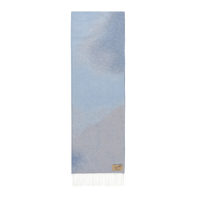 Blue Ombré Cotton Jacquard Throw