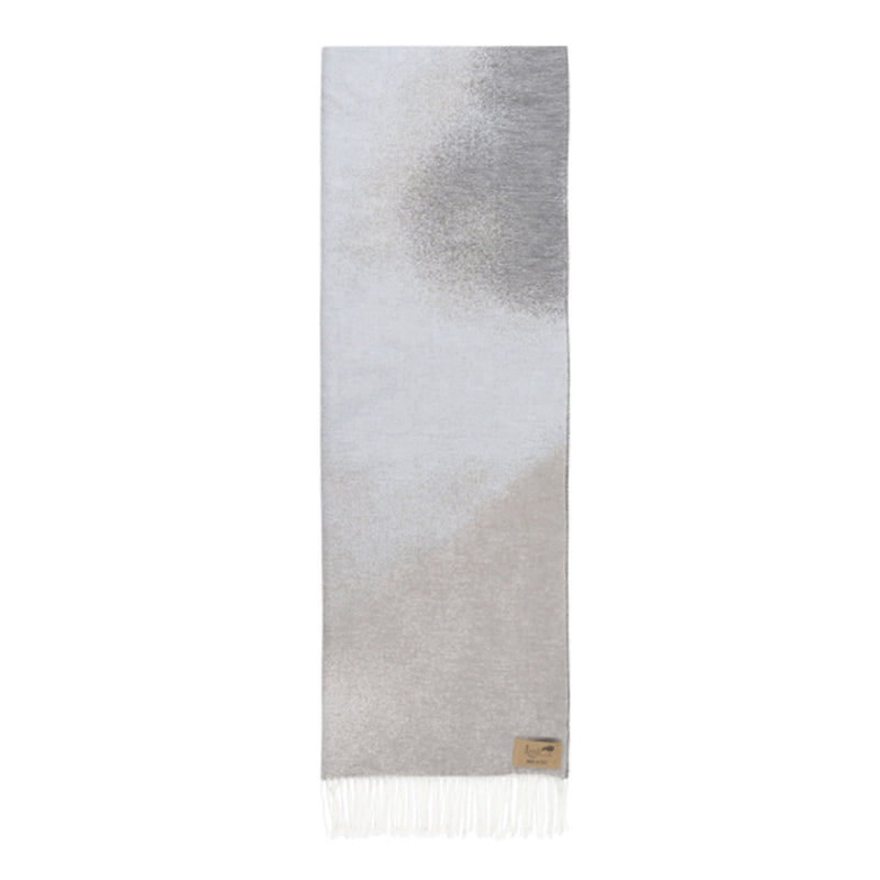 Light Gray Ombré Cotton Jacquard Throw