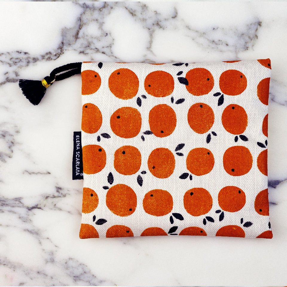 Orange Soap Bag