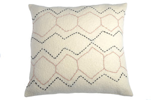 Emily - Hand-Embroidered Wool Cushion