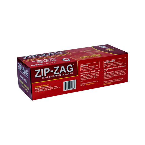 ZIP-ZAG® BRAND BAG LARGE 27X28CM 250G (50 pack)