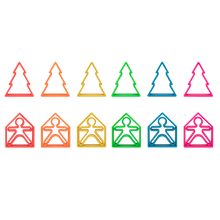 Load image into Gallery viewer, Neon Kids, Houses & Trees 6 Pack (Assorted Colors)