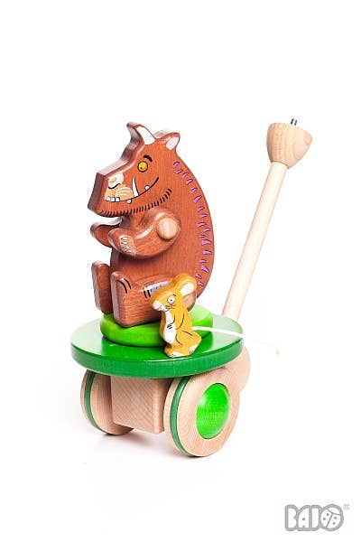 BAJO Wooden Gruffalo & Mouse Push Toy
